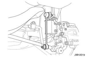 задняя стойка стабилизатора Chevrolet Lacetti